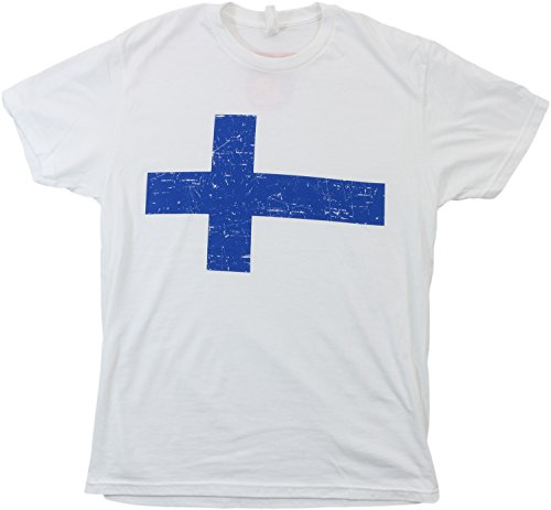 Finland Pride | Vintage Style, Retro-Feel Finnish Flag & Arms Unisex T-shirt