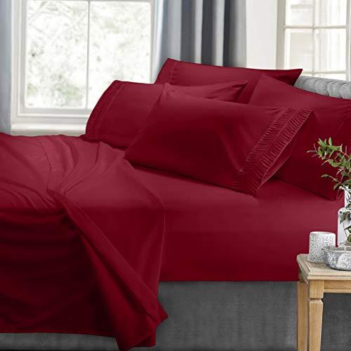- Hebel Bed Sheet Set with Luxury Arrow Design 6 Piece Bedding Set 100% Soft Microfiber | Model SHTST - 2101 | Queen