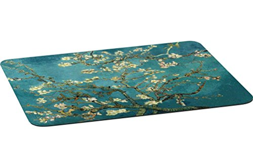 Rikki Knight Van Gogh Almond Blossoms Large Non-Slip Fabric Top Table Place Mats with Rubber Backing (set of 4)