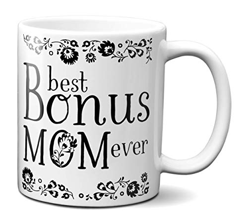 (Best Bonus Mom Ever Coffee Mug Step Mother/Mother-in-Law Gift Idea Tea Cup)