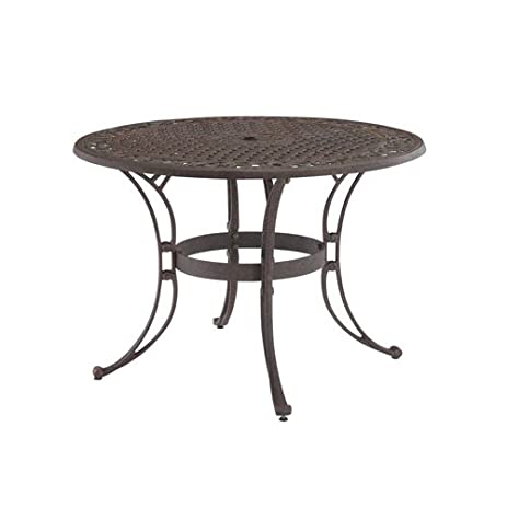 Good Home Style 5555 32 Biscayne Round Outdoor Dining Table, Rust Bronze Finish,  48