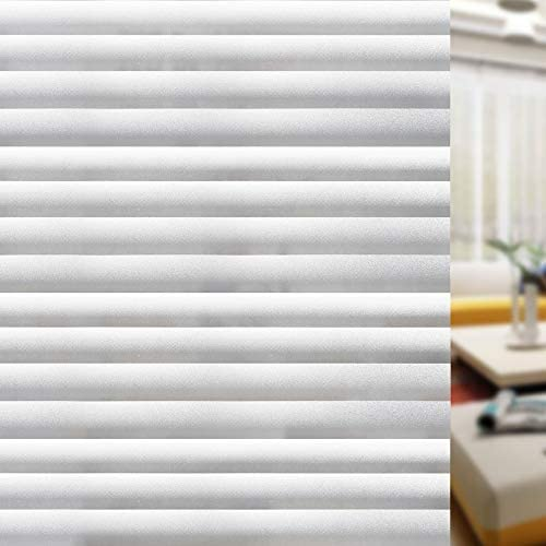 Zindoo Streifen Blickdicht Fensterfolie Sichtschutzfolie Statische Folie ohne