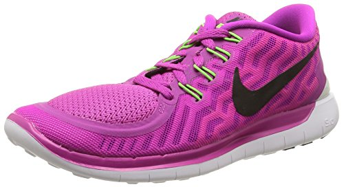 NIKE Womens Free 5.0 Running Shoes Fuchsia Flash/Pink Pow/Hot Lava/Black SX9FaF7xvW