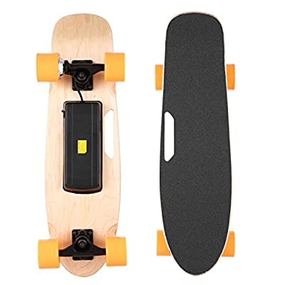 Vividy Electric Skateboard Longboard with Remote Controller, 24V 200W 7 Layers Maple E-Skateboard Li-Ion Battery from Vividy