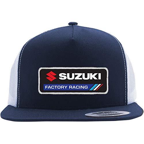 Factory Effex Suzuki Factory Snapback Hat Navy/White (Blue, OSFM)
