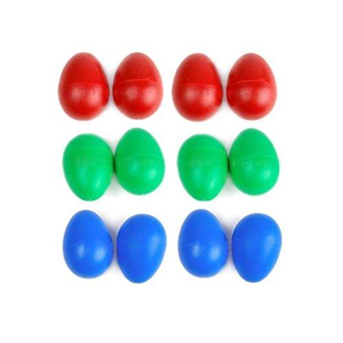 Musical Egg, Plastic Percussion Maracas Egg Shakers Set of 12