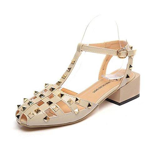 zapatos planos principales de los pescados palabra hebilla de zapatos de las mujeres salvajes transpirables zapatos del agujero hueco meters white