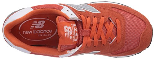 888546369719 - New Balance Men's ML574 Picnic Pack Collection Classic Running Shoe, Orange/Silver, 11.5 D US carousel main 7