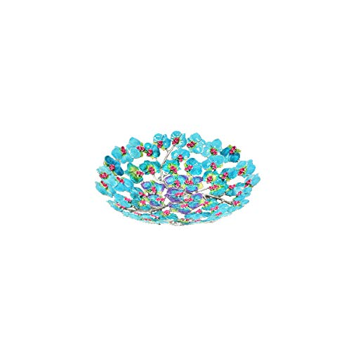 - 5ive Sis Finest Pewter Material Orchid Enamel Painted Fruit Tray Decoration Round Shape Jewelry handed Paint Orchid Design PTROR02S (Small)