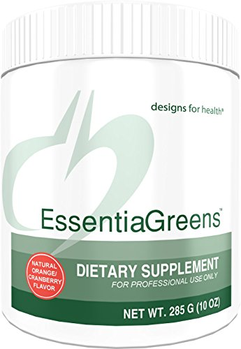 Powder Alkalizing (Designs for Health - EssentiaGreens Powder - Organic Alkalizing Vegetables + Prebiotic Fiber + Gluten-Free, 285 Grams)