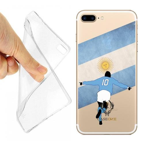 Caseone linea top CUSTODIA COVER CASE CALCIATORE ARGENTINA PER IPHONE 7 PLUS TRASPARENTE