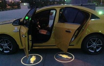 Amazon.es: 2pcs coche Logo Proyector para puerta de Chevrolet ...