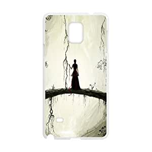 Yearinspace Art bridge in the forest Samsung Galaxy Note 4 Cases natural bridge painting Design For Men, Phone Case For Samsung Galaxy Note 4 Edge, {White}