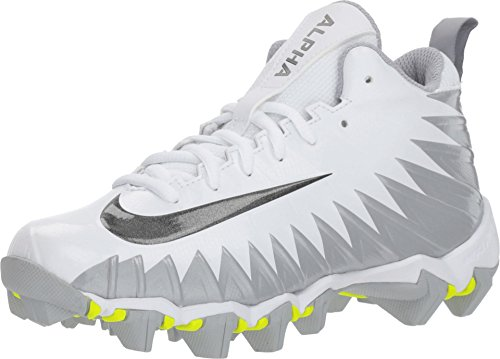 online store 072eb 08610 NIKE Kids  Alpha Menace Shark Football Cleats (4.5, White Silver) by