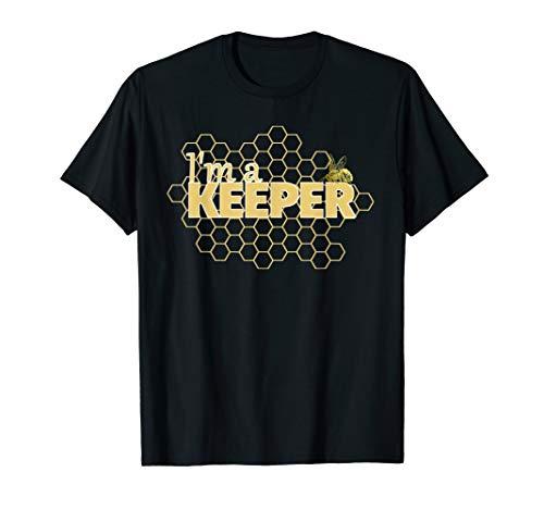 Bee t shirt I'm a Keeper funny beekeeper tee]()