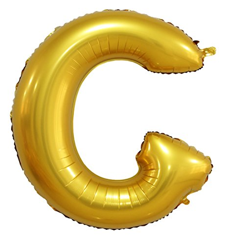 Lanxun 40 inch Golden Helium Foil Letter Balloons ( Letter G ) (Words To Let It G)