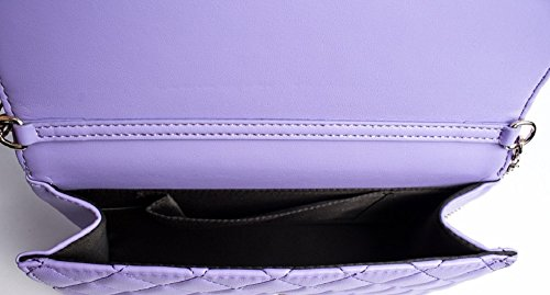 Love Moschino shoulder bag Nappa Pu quilted lavender