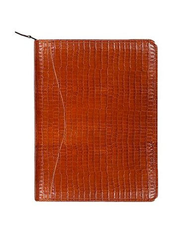 (Scully 5014Z-0 Unisex Leather Zip Planner And Letter Pad, Brown - 61)