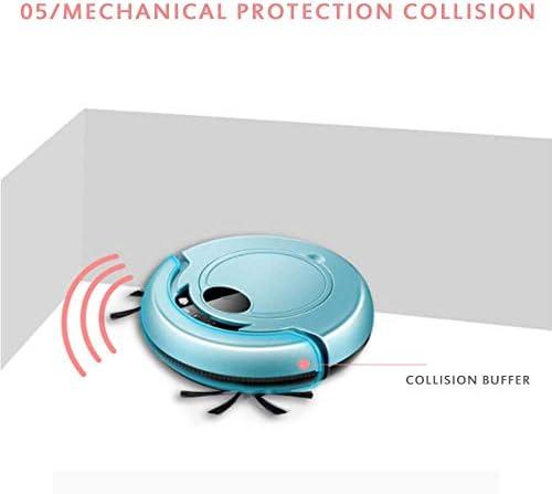 Aspirateur Robot Rechargeable 2 en 1 Balayeuse De Nettoyage Intelligente 1500Pa à Faible Bruit pour Le Bureau à Domicile, Rouge