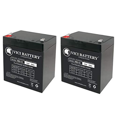 (VICI Battery 12V 5Ah Replaces 12v 4ah Alarm System Back Up Vista 20P ADT - 2 Pack Brand Product)