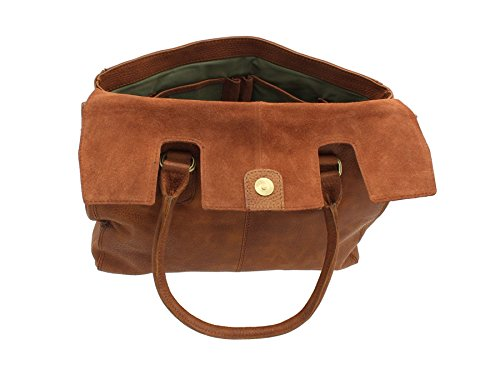 BollaBags, Borsa a spalla donna, Brown (Marrone) - Frances Tan