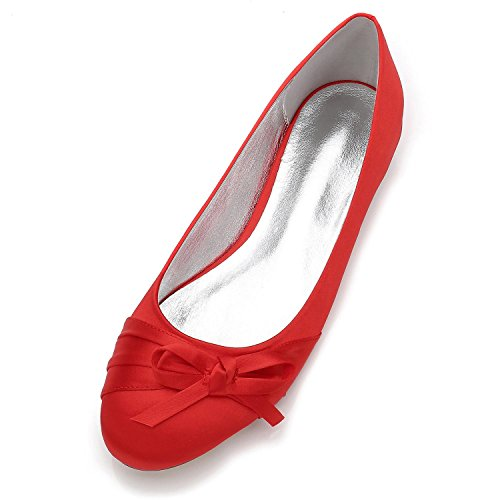 shoes Punta F5049 Large Size Party Elegant da 15 Sposa Scarpe Chiusa Punta high rosso Sposa da da Sposa Donna Cravatta da Tonda 5zHzTpwKq