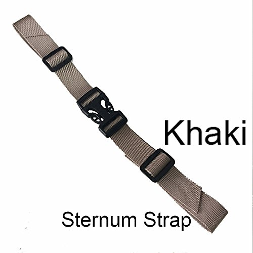 Sternum Strap Backpack Chest Harness with Quick Release Buckle- Nylon - Adjustable Universal - 6 Different Colors (Ladder Quick Release)