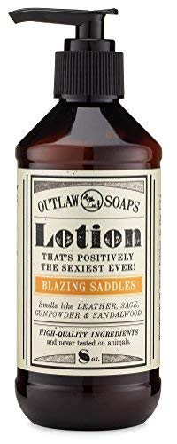 Blazing Saddles Natural Lotion - The sexiest lotion in the West - Western inspired, smells like leather, gunpowder, sandalwood, and sagebrush - Mens and Womens Lotion