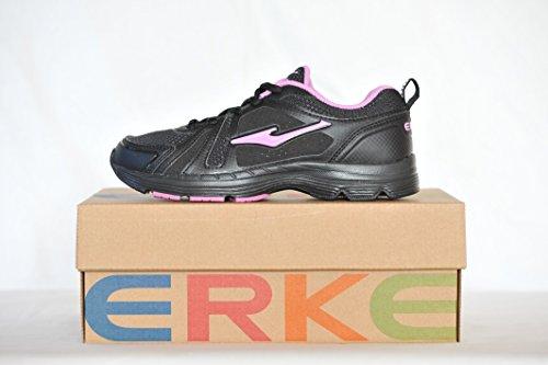 de Erke Running Femmes Rose et Chaussures Noire ZxqR5x