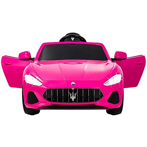 Uenjoy Maserati Grancabrio 12V Electric Kids Ride On Cars Motorized Vehicles for Girls W/Remote Control, Wheels Suspension, Mp3 Player, Light, Pink by Uenjoy (Image #1)