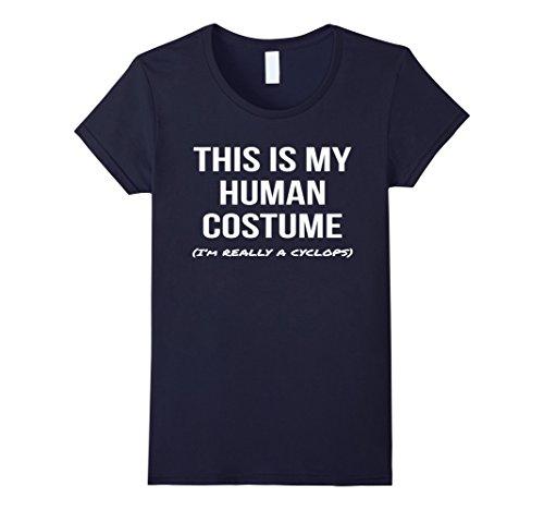 Womens Human Costume I'm a Cyclops Shirt Cosplay Halloween Tee Large (Cyclops Cosplay Costume)
