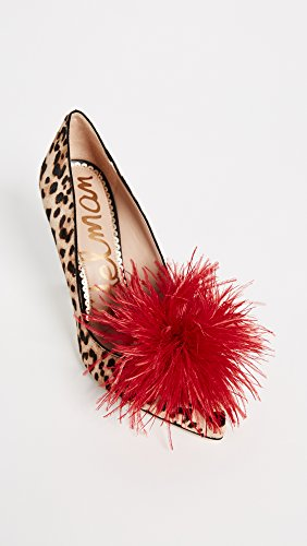 Sand Women's Pump Sam Edelman Suede Passion Leopard Red Haide xv5w0twrq1