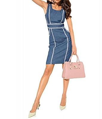93a3f897aa7d3a Ashley Brooke Damen Designer-Jeanskleid