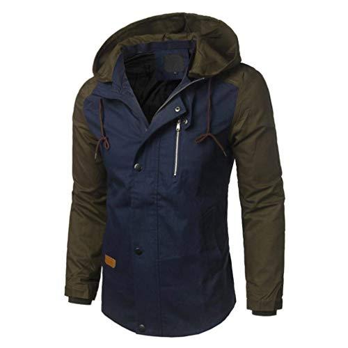 Huixin Marino Autunno Poliestere Abbigliamento Uomini Sottile Inverno Patchwork Streetwear Bomber Casuale Cappotto Giacca rq67r