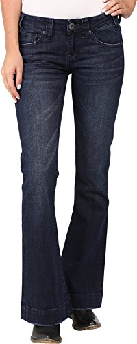 Rock and Roll Cowgirl Women's Trousers Low Rise In Dark Wash W8-8486 Dark Wash 34 (Jeans Women Republic Rock)