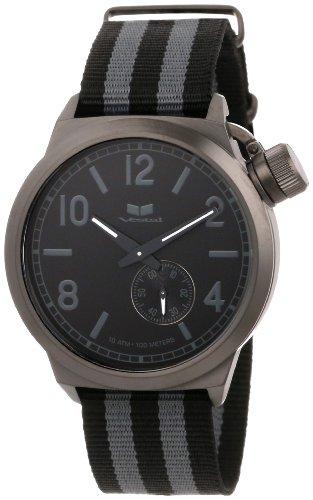 Vestal Unisex CAN3N02 Canteen Zulu Grey Stripes Gun Watch