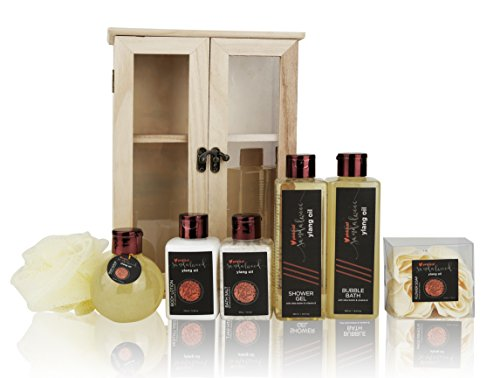 Pinkleaf-Sandalwood-Ylang-Oil-with-Shea-Butter-Vitamin-E-Spa-Gift-Set-In-Wooden-Cabinet