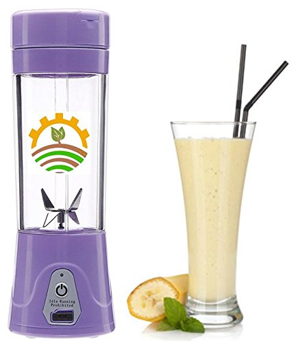 USB Rechargeable Personal Blender, Smoothie Maker, Fruit and Vegetable Mixer, Custom Baby Food Blender, Protein Shake, and Water Bottle.