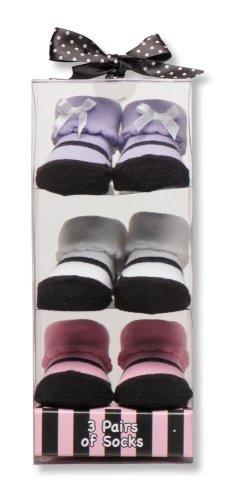 2009 Toddler Seat - Baby Starters 3-Pack Sock Set - Pink Maryjane Motif