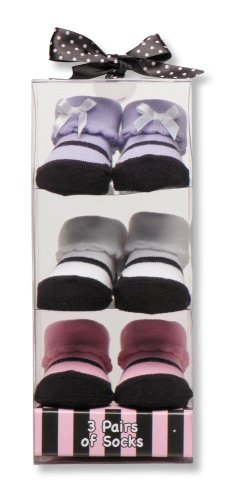 Baby Starters 3-Pack Sock Set - Pink Maryjane Motif by Baby Starters