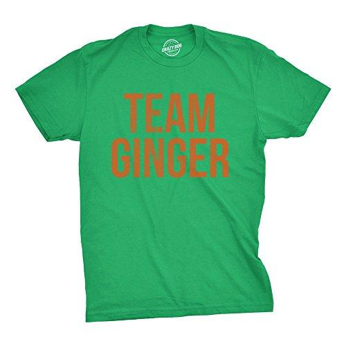 (Mens Team Ginger Tshirt Funny Red Head St Patricks Day Irish Tee for Guys (Green) - L)