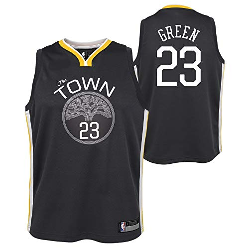 (Outerstuff Golden State Warriors Youth 'The Town' Draymond Green #23 Swingman Jersey - Grey (Youth Small (8)) )