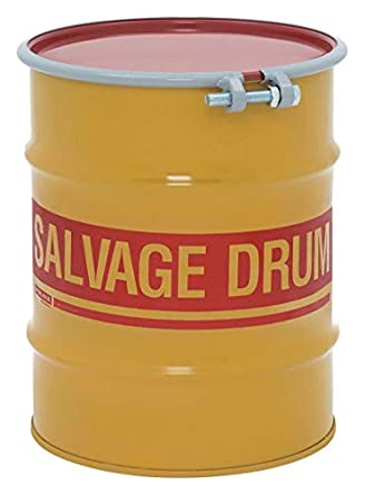salvage drum open head 10 gal yellow science lab drums industrial scientific. Black Bedroom Furniture Sets. Home Design Ideas