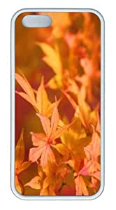 iPhone 5S Customized Unique Landscape Flowers Japanese Maple 2 New Fashion TPU White iPhone 5/5S Cases