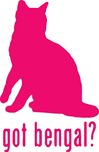 ANGDEST Animal Got Bengal Cat (Pink) (Set of 2) Premium Waterproof Vinyl Decal Stickers for Laptop Phone Accessory Helmet Car Window Bumper Mug Tuber Cup Door Wall Decoration