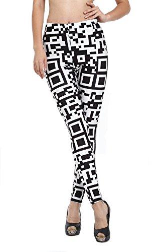 Amour - Women's King Tut Leggings Black Milk Digital Print Tights (Code)