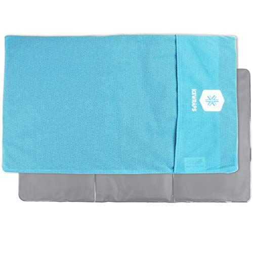 IceWraps Ice Pack Cover for Oversize 12x21 Cold Pack Sleeve Keeps Pack Clean and Skin Protected, Reusable, Washable - Blue Fabric Cover Only