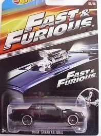 HOT WHEELS 2015 FAST AND FURIOUS RELEASE EXCLUSIVE BLACK BUICK GRAND NATIONAL #6/8 DIE-CAST