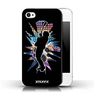 KOBALT? Protective Hard Back Phone Case / Cover for Ipod Touch 4 | Hendrix Black Design | Rock Star Pose Collection