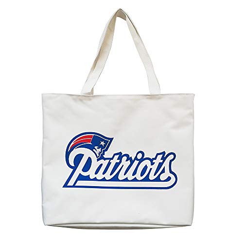 Gloral HIF New England Patriots Canvas Tote Bags Beige for Fans